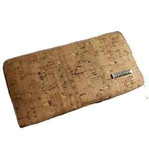 Mad Style Cork Wallet Zip Around Polyester Lining